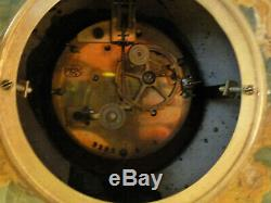 Garniture De Cheminée Art Deco En Onyx Et Bronze pendule clock uhr reloj