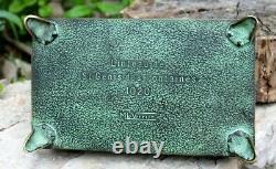 Grand coffret en bronze signé max le verrier linteau de st genis des fontaines