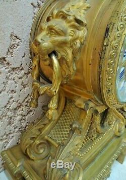 Grande Pendule + Garniture Style Louis XV Rocaille / Bronze Dore / Epoque 19°