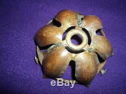 Griffe Bronze Tulipe Was Benson Arts & Crafs Art Nouveau Lampe Era Daum Galle