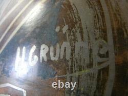 H Grunne Ancien Rare Grand Vase Ovoide Dinanderie Art Deco Bronze Poisson Design