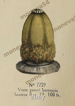 Hettier & Vincent Lampe Art Déco Cataloguée Bronze Nickelé Et Tulipe Muller Fr