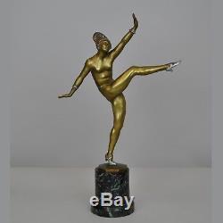 J P Morante, High Kick, Bronze Signé, Art Deco XXème Siècle