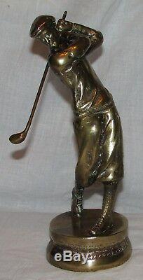 Joueur De Golf En Bronze Statue Sculpture Golfeur