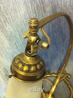 LAMPE BRONZE TULIPE SIGNÉE MULLER FRÈRES ART DECO NOUVEAU FRENCH LAMP LUSTRE