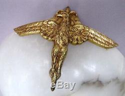 Lampe Albâtre Aigle en Bronze