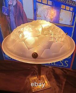 Lampe Art Déco Art Nouveau (Bronze ou Laiton) Signé Ros (Degué)