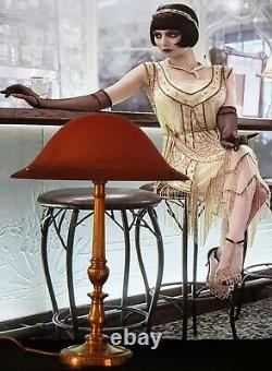Lampe Art Déco Art Nouveau Verre Moulé Signée Vianne (Bronze ou Laiton)