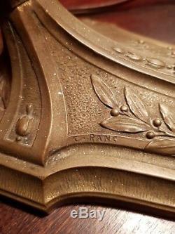 Lampe Art Deco Bronze C. Ranc Muller fres luneville Vincent Hettier