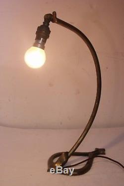 Lampe Art Deco Bronze Pour Pate De Verre Muller Schneider Daum Lustre