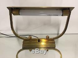 Lampe Art Deco Design Moderniste Laiton Bronze Perzel Adnet Ancien Vintage