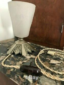 Lampe Art Deco Signe Muller Tulipe Vasque Obus Donna Degue Maynadier Lustre