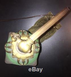 Lampe Bronze De Chevet Style Art Déco Tête De Cygne, Signée CHARLES RANC