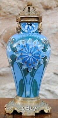 Lampe Veilleuse Porcelaine Bronze Napoleon III Art Nouveau French Lamp Deco 1900