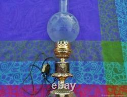 Lampe de table ancienne Empire et lions bronze France Antique table lamp Empire