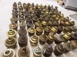 Lot De 100 Douilles Electrique Ancienne Bronze Laiton