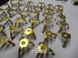 Lot De 35 Griffes Ancienne Bronze Laiton Pour Lampe Tulipe
