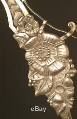 Lustre Art Déco En Bronze Fleurs De Pavots