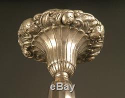 Lustre Art Déco En Bronze Fleurs De Pavots / French Art Deco Chandelier