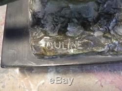 Magnifique Bronze Signe Ouline Art Deco