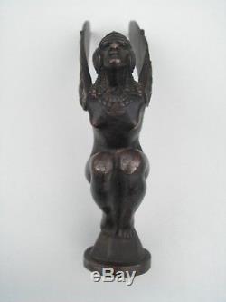 MASCOTTE AUTOMOBILE BOUCHON RADIATEUR art deco 1920 1930 bronze M BONNOT 1920