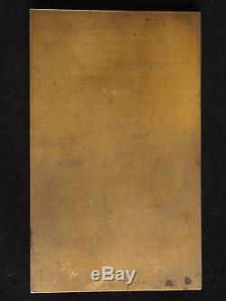 MEDAILLE ART DECO BRONZE André LAVRILLIER LEDA ET LE CYGNE 100mm/61mm