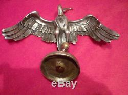 Mascotte Automobile Bronze La Cigogne Art Deco Sasportas Mascot Cap Vgc