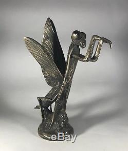 Mascotte automobile animalière bronze art deco argenté