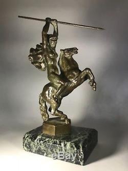 Mascotte automobile bronze art deco