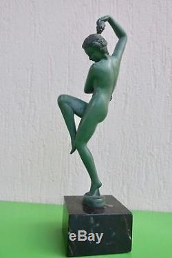 Max Le Verrier sculpture danseuse vendanges signée Denis