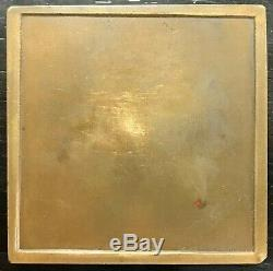 Médaille Plaquette Bronze Art Déco Danseur Au Tambourin (1931) Par Renard