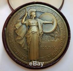 Médaille maçonnique art deco femme Raoul Bénard Assurance La Providence Medal
