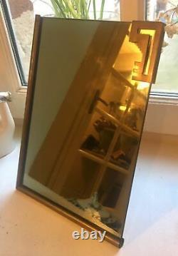 Miroir Ancien Art Deco Styl Karl Hagenauer Modernist Antique Brass Vanity Mirror