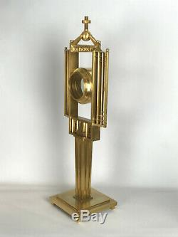 Ostensoir Montagnier Montranse En Bronze Doré Et Vermeil Epoque Art Deco