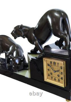 PENDULE ART DECO. Kaminuhr Empire clock bronze horloge antique uhren cartel