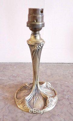 PIED DE LAMPE bronze art nouveau / art déco G. LELEU