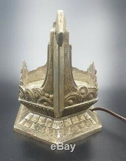 PIERRE GILLES RARE PIED DE LAMPE ART DÉCO en BRONZE NICKELÉ 1930 lamp nickeled
