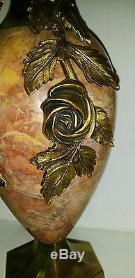 Paire De Cassolettes En Marbre Et Bronze Art Déco
