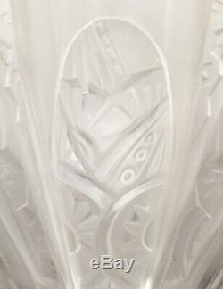 Paire d'Appliques Art Deco Eventail de Frontisi Bronze nickelé Glass 1930