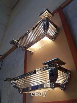 Paire d'appliques Bronze Henri Petitot Époque Art Deco Refait A Neuf Signé