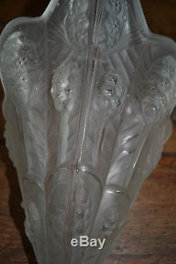 Paire dappliques NOVERDY Bronze et verre ART-DECO