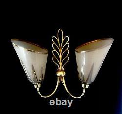 Paire dappliques bronze H. Petitot vintage post Art Deco 40/50