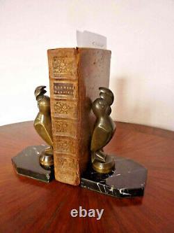 Paire de serre livre en bronze signé G. H. LAURENT