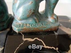 Paire de serre-livres Frecourt, bronze Sphinx