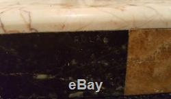 Panthere Art Deco Regule Fonte D'art Signee Rulas Patine Bronze Marbre Beige