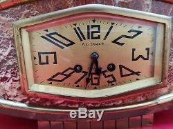 Pendule clock art deco 1930 bronze très bel état fonctionne parfaitement