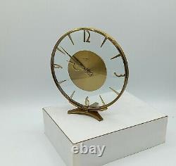 Pendulette Bayard art déco 8 days. French round art déco clock by bayard 1930