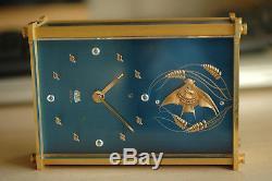Pendulette Reveil Jaeger Lecoultre Marina Recital Musical 8 Days Alarm Clock