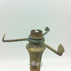 Petit Pied De Lampe Art Nouveau En Bronze Pour Obus Daum Muller Schneider