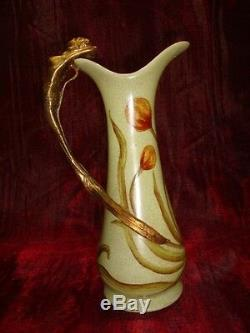 Pichet Cruche Figurine Sirene Nue Sexy Style Art Deco Style Art Nouveau